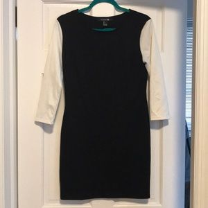 Black/white fitted dress
